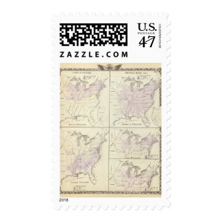 1870 United States census maps Postage