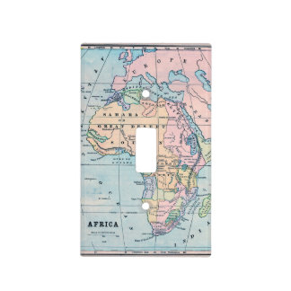 1870 Vintage Map of Africa Light Switch Cover