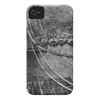 1870s New York City Brooklyn Bridge Construction iPhone 4 Case-Mate Case
