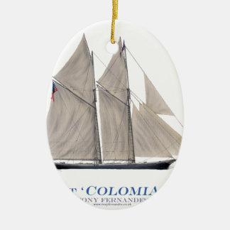 1871 Colombia Ceramic Ornament