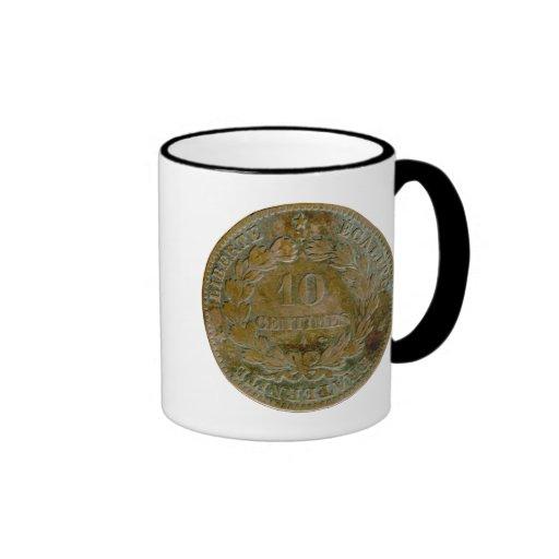 1871 franceses taza (reversa) de 10 céntimos
