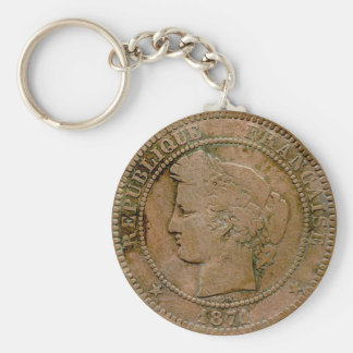 1871 French 10 Centime Keychain