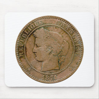1871 French 10 Centime mousepad