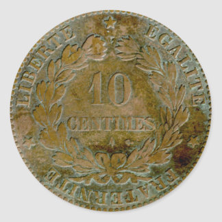 1871 French 10 centime (reverse) sticker