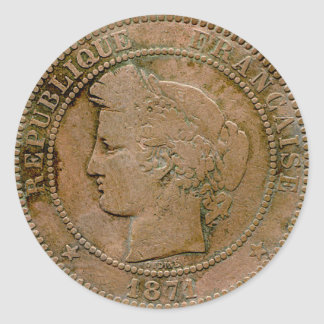 1871 French 10 Centime sticker