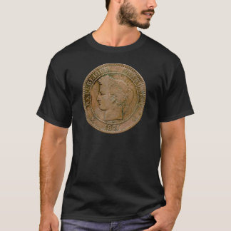 1871 French 10 Centime t-shirt