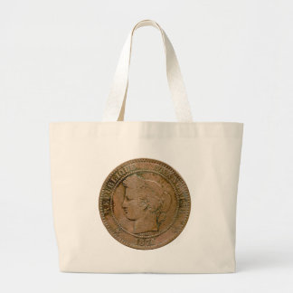 1871 French 10 Centime tote Bags