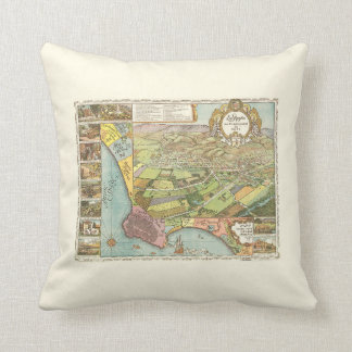 1871 Los Angeles Throw Pillow