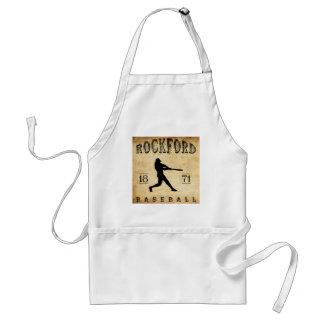 1871 Rockford Illinois Baseball Adult Apron