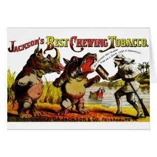1871 Vintage Chewing Tobacco Ad Card
