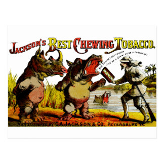 1871 Vintage Chewing Tobacco Ad Postcards