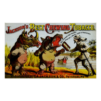 1871 Vintage Chewing Tobacco Ad Poster