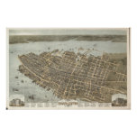 1872 Charleston, mapa panorámico de la opinión de  Poster