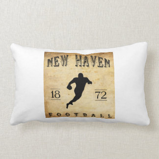 1872 New Haven Connecticut Football Throw Pillows