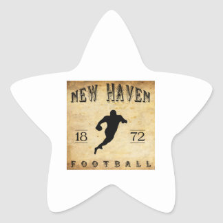 1872 New Haven Connecticut Football Star Sticker