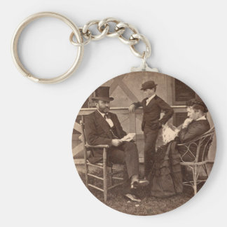 1872 President Grant with Family at Cottage Keychain
