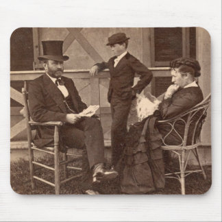 1872 President Grant with Family at Cottage Mouse Pad