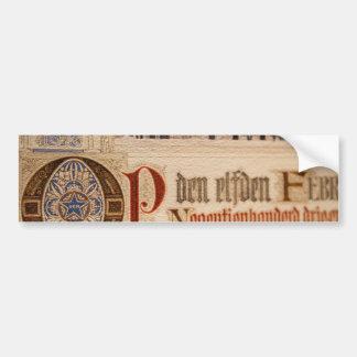 1873 Antique Certificate Vintage Paper Bumper Sticker