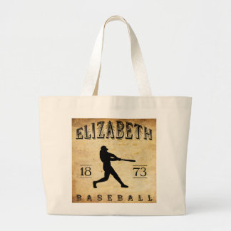 1873 Elizabeth New Jersey Baseball Large Tote Bag