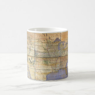 1873 Map of the United States and Territories Classic White Coffee Mug