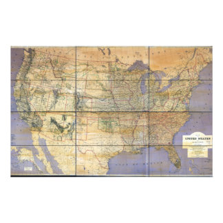 1873 Map of the United States and Territories Stationery