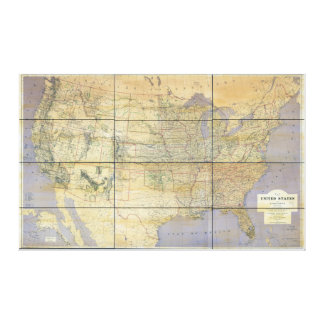 1873 Map of the United States of America Gallery Wrap Canvas