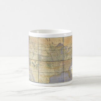 1873 Map of the United States of America Classic White Coffee Mug