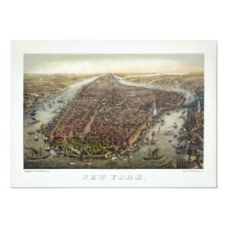 1873 New York City Battery Park Brooklyn Bridge Card