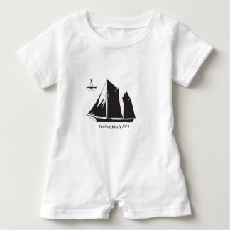1873 trading ketch - tony fernandes baby romper
