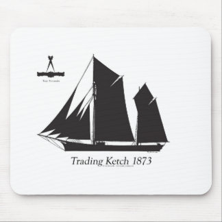 1873 trading ketch - tony fernandes mouse pad