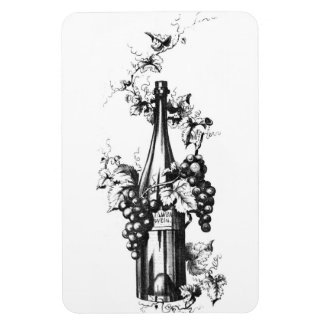 1873 Vintage Wine Bottle with Grapes and Leaves Magnet