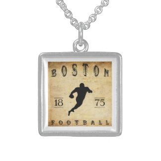 1875 Boston Massachusetts Football Necklace