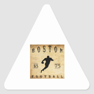 1875 Boston Massachusetts Football Triangle Sticker