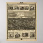 1875 Chariton, mapa panorámico de la opinión de oj Impresiones
