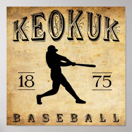 1875 Keokuk Iowa Baseball Print