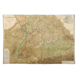 1875 Map of South West Germany Cloth Placemat