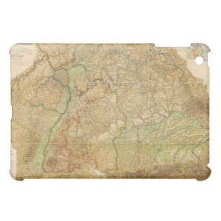 1875 Map of South West Germany Cover For The iPad Mini