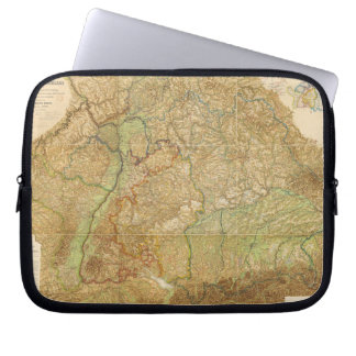 1875 Map of South West Germany Laptop Computer Sleeve