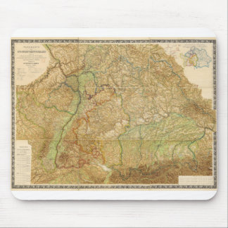 1875 Map of South West Germany Mouse Pad