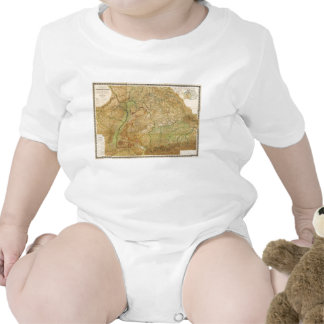 1875 Map of South West Germany Tee Shirts