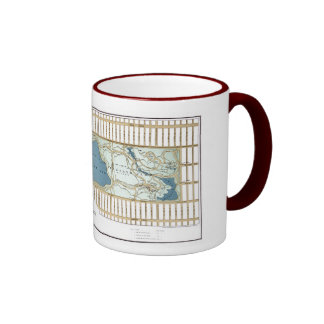1875 Map of the Central Park, New York City Ringer Coffee Mug