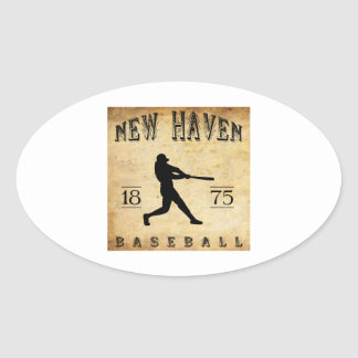 1875 New Haven Connecticut Baseball Oval Sticker