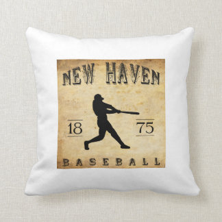 1875 New Haven Connecticut Baseball Throw Pillows