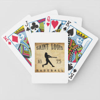 1875 Saint Louis Missouri Baseball Bicycle Playing Cards