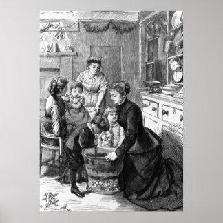 1876 El pudín del navidad del stir de la ayuda de Posters