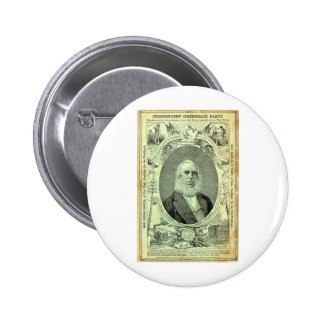 1876 Greenback Party Pinback Button