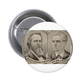 1876 Hays - Wheeler Pinback Buttons
