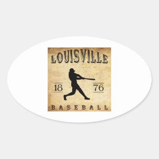 1876 Louisville Kentucky Baseball Oval Sticker