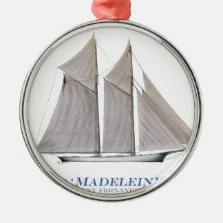 1876 Madeleine Metal Ornament