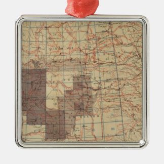 1876 Progress Map of The US Geographical Surveys Christmas Tree Ornaments